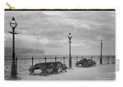 Black And White Swanage Pier Carry-all Pouch
