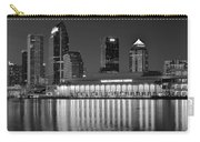 Black And White Tampa Night Carry-all Pouch