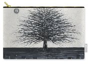 Black And White Snow Cold Winter Tree Carry-all Pouch