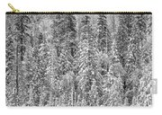Black And White Trees In A Forest Carry-all Pouch