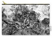 Black And White Uprooted Tree Carry-all Pouch