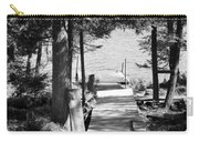 Black And White Walkway Carry-all Pouch