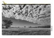 Black And White Wheat Field Carry-all Pouch