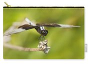 Black And White Widow Skimmer Carry-all Pouch