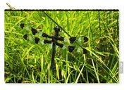 Black And White Winged Dragonfly Carry-all Pouch