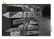 Black And White World Directions Carry-all Pouch