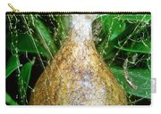 Black And Yellow Garden Spider Egg Sac Carry-all Pouch