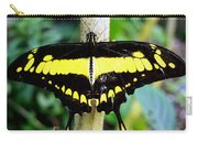 Black And Yellow Swallowtail Butterfly Carry-all Pouch
