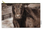Black Angus In The Field Carry-all Pouch