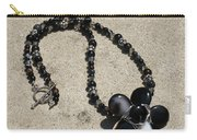 Black Banded Onyx Wire Wrapped Flower Pendant Necklace 3634 Carry-all Pouch