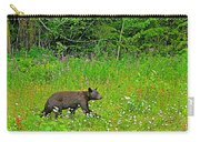 Black Bear Along Yellowhead Highway-bc Carry-all Pouch