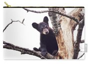 Black Bear Cub Up In A Dead Tree In Northern Minnesota Carry-all Pouch