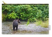 Black Bear Eating A Salmon In Fish Creek In Tongass National Forest-ak Carry-all Pouch