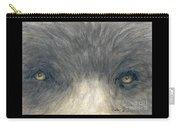 Black Bear Eyes Wildlife Animal Art Carry-all Pouch