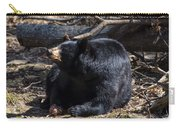 Black Bear Guarding Food Carry-all Pouch