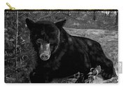 Black Bear - Scruffy - Black And White Carry-all Pouch