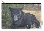 Black Bear - Wildlife Art -scruffy Carry-all Pouch