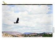 Black Bird In Flight Carry-all Pouch