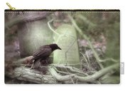 Black Bird In Forgotten Graveyard Carry-all Pouch