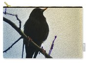 Black Bird Perch Carry-all Pouch