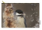 Black-capped Chickadee In Winter Carry-all Pouch by Mircea Costina Photography