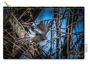 Black Capped Chickadee Start Of Flight Carry-all Pouch