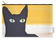 Black Cat Crossing Carry-all Pouch by Linda Woods