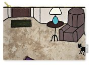Essence Of Home - Black Cat Entering Living Room Carry-all Pouch