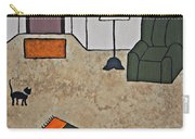 Essence Of Home - Black Cat In Living Room Carry-all Pouch