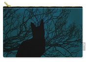 Black Cat In The Moonlight Blue Carry-all Pouch