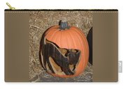 Black Cat On Pumpkin Carry-all Pouch