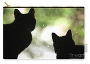 Black Cat Silhouettes Carry-all Pouch