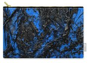 Black Cracks With Blue Carry-all Pouch