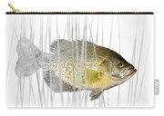 Black Crappie Pan Fish In The Reeds Carry-all Pouch
