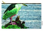 Black Crowned Green Night Heron Carry-all Pouch