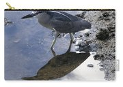 Black Crowned Night Heron And Shadow Carry-all Pouch