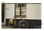 Black Cycle Rests On Window Sill Bruges Belgium Carry-all Pouch