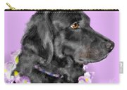 Black Dog Pretty In Lavender Carry-all Pouch