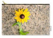 Black-eyed Susan Flower On A Gneiss Rock Carry-all Pouch