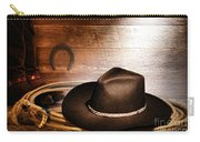Black Felt Cowboy Hat Carry-all Pouch