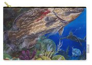 Black Grouper Hole Carry-all Pouch by Carey Chen