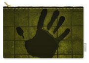 Black Hand Yellow Carry-all Pouch