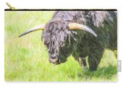 Black Highland Cattle Bull Carry-all Pouch