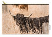 Black Highland Cow Carry-all Pouch