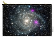 Black Holes In Spiral Galaxy Nasa Carry-all Pouch by Rose Santuci-Sofranko