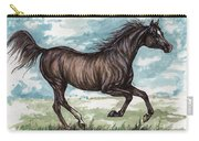 Black Horse Running Carry-all Pouch