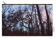 Black Ink Trees Twilight Carry-all Pouch