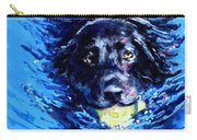 Black Lab  Blue Wake Carry-all Pouch by Molly Poole