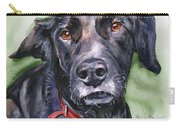 Black Lab In Watercolor Carry-all Pouch