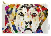 Black Lab Watercolor Art Carry-all Pouch